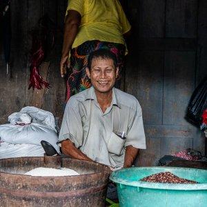 Man selling cereal grain