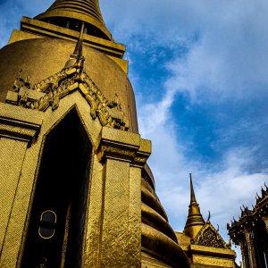 Phra Si Rattana Chedi and Phra Mondop in Wat Phra Kaew