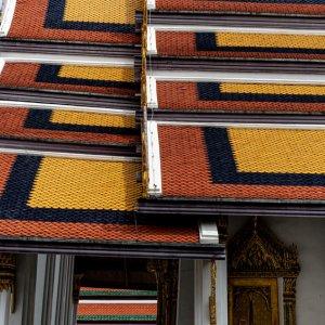 Vivid roof in Wat Phra Kaeo