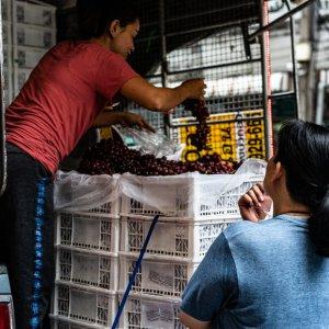 Grape seller on truck