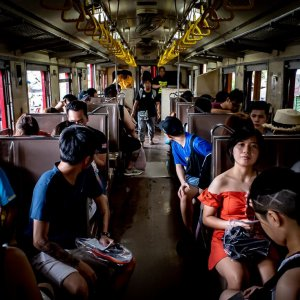 Passengers on Maeklong Railway