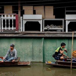 Boats in Damnoen Saduak Floating Market