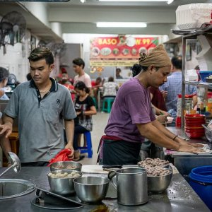 Popular Bakso shop with local people