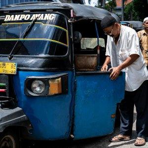 Men wearing a Taqiyah in Jakarta