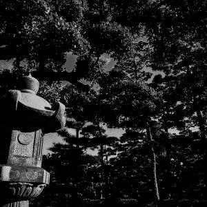 Stone lantern in Tamamo Park