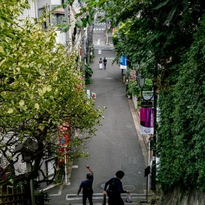 Otoko-zaka in Yushima Tenjin