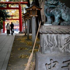 Hanazono Jinja Shrine guardian dog