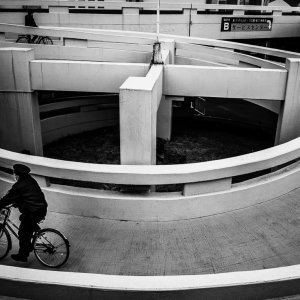 Bicycle going down the loop