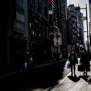 People walking along Nishi-gobangai-dori