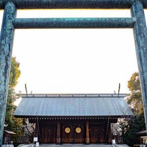 靖国神社の第二鳥居と神門