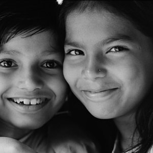 Cute smiles of girls