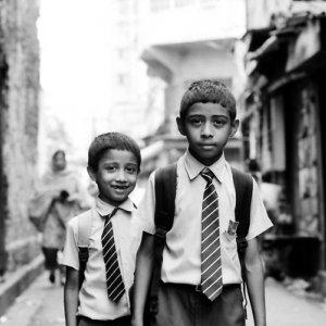 School boys with tie