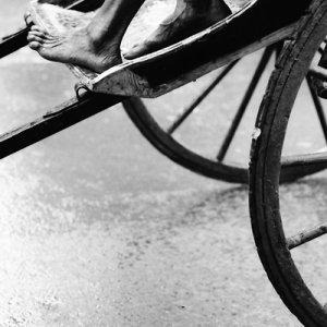 feet of rickshaw wallah