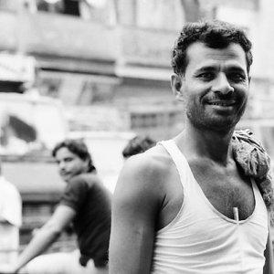 Man working in market