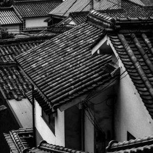 tiled roofs in Kurashiki