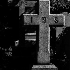 Two crosses in cemetery