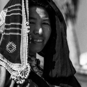 ルアンパバーンにいたモン族の女性