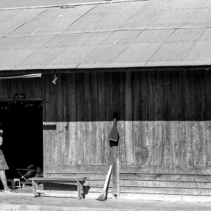 Wooden house with a zinc roofing in Muang Sing