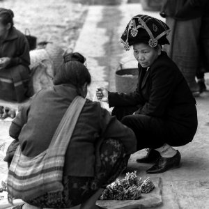 Woman wearing ethnic cap