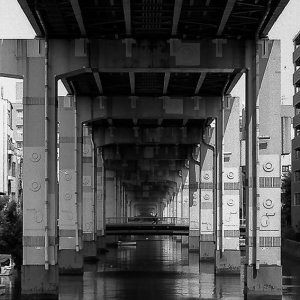 Waterway under the highway