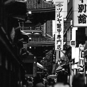 Hozo-mon gate at end of lane