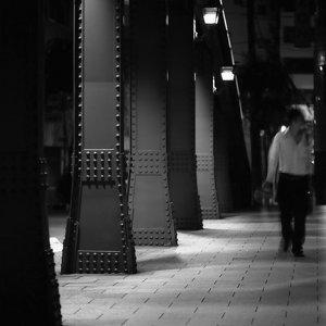 柳橋の上の人影