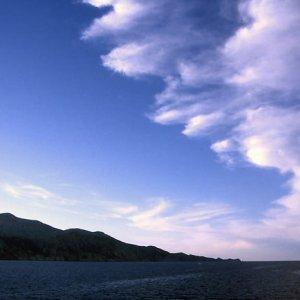 地中海の上の雲