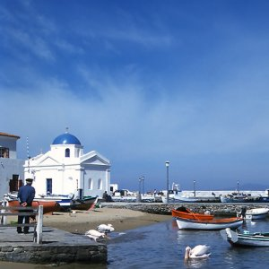 old harbor of mykonos