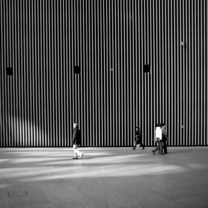 Tall wall in Tokyo International Forum