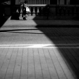 Woman on Nihonbashi bridge