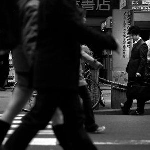 Businessman by roadside