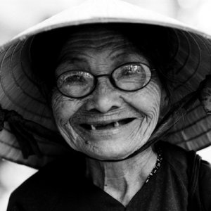 Cute smile of older woman