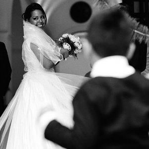 Bride having bouquet