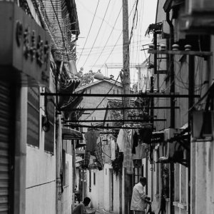 Alleys of Shanghai with an idyllic atmosphere