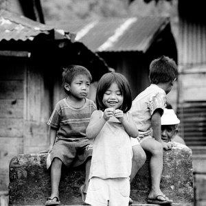 Girl grinning at drop