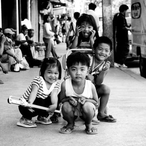 Four children in Bontoc
