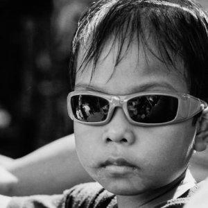 Boy wearing sunglasses