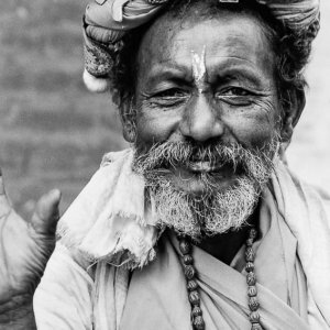 Man looked like a sightseeing sadhu