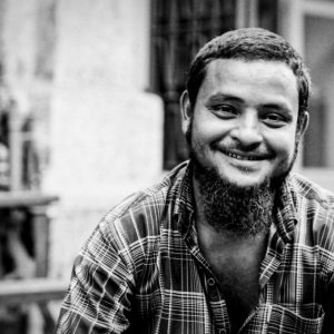 Man wearing fine beard