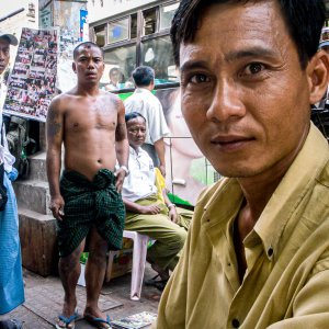 Man looking straight at camera