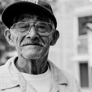 Old man wearing glasses