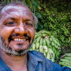 Man delivering bananas