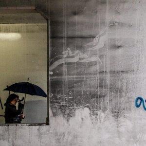 Umbrella in frame
