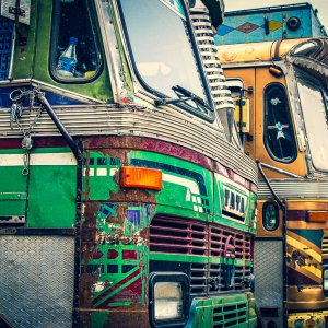 駐車場のトラック