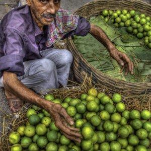 Man selling oranges