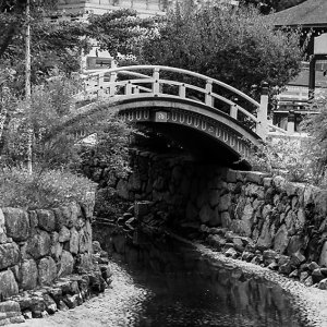 Arched bridge in Shimogamo Jinja