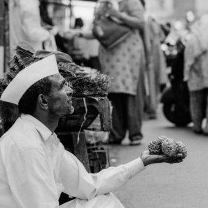 Man selling artichokes