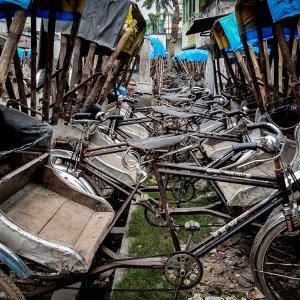 parking lot of cycle rickshaw