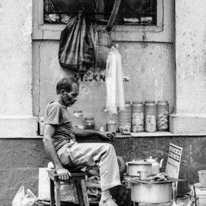 Chai stand in street corner