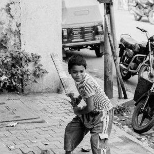 Boy holding a bat